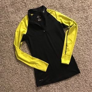 Nike Pro Dri-fit Fitted Long Sleeve Black/Yellow S